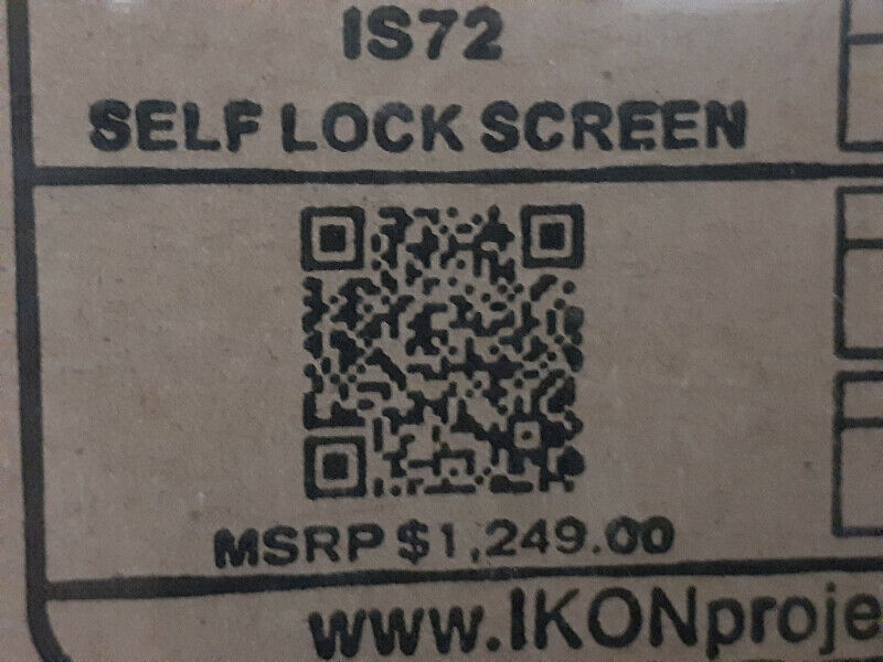 Ikon IS72 projector screen
